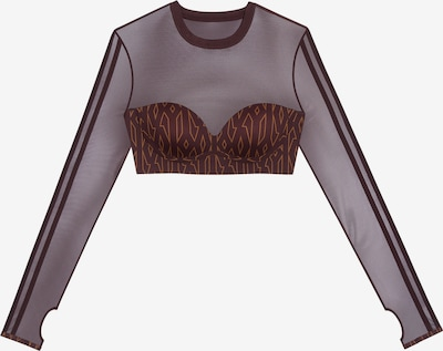 ADIDAS ORIGINALS T-shirt 'MNGM' en marron châtaigne / rouille, Vue avec produit