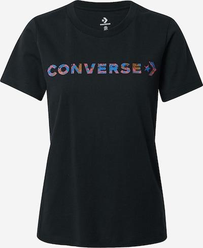 CONVERSE T-Shirt 'Exploration' in blau / braun / pink / schwarz, Produktansicht