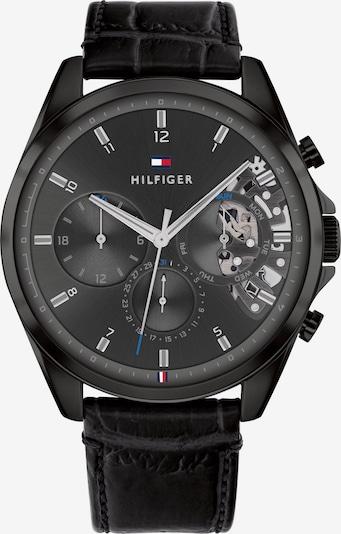 TOMMY HILFIGER Uhr in navy / hellgrau / rot / schwarz / weiß: Frontalansicht