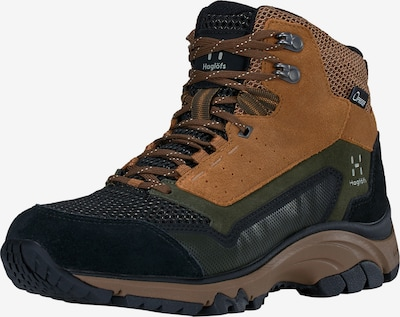 Haglöfs Boots 'Skuta Mid Proof Eco' in de kleur Bruin / Zwart, Productweergave