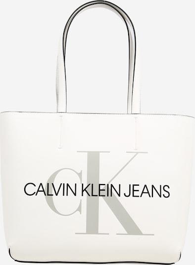 Calvin Klein Jeans Shopper in grau / weiß, Produktansicht