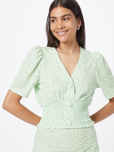 Gina Tricot Bluse 'Isabella' in pastellgrün / dunkelgrün / weiß, Modelansicht