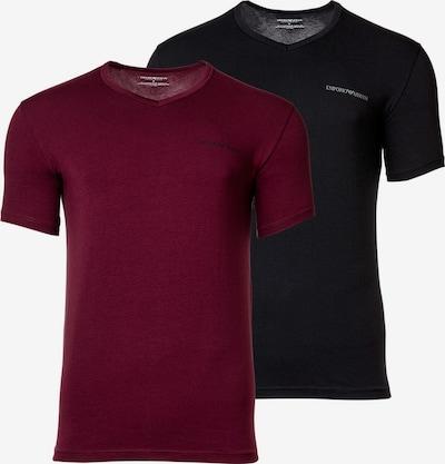 Emporio Armani Shirt in de kleur Bourgogne / Zwart, Productweergave