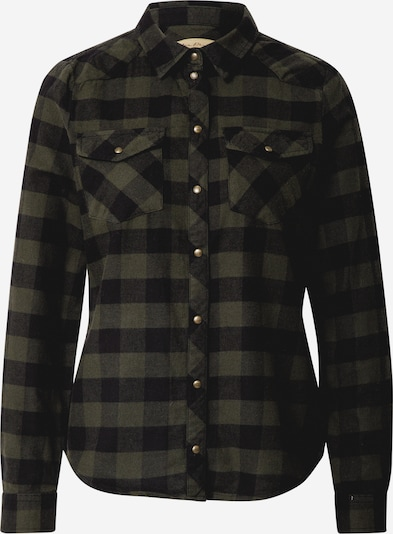 ONLY Bluse 'Rock It' in oliv / schwarz, Produktansicht