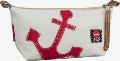 360 Grad Kosmetiktasche ' Navigator ' in hellbraun / rot / weiß, Produktansicht