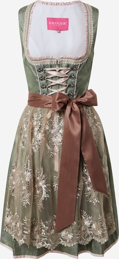 Krüger Madl Dirndl in beige / brown / green / pink, Item view