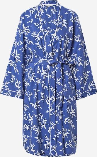 Cyberjammies Ochtendjas 'Libby Bamboo Leafy Print Short Wrap' in de kleur Blauw / Wit, Productweergave