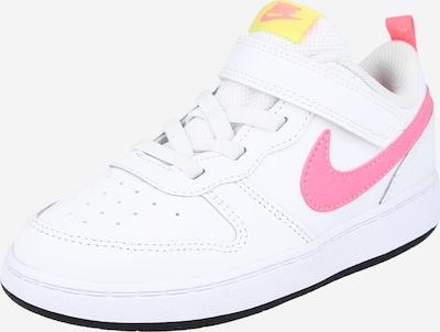 Sportbačiai 'Court Borough 2' iš Nike Sportswear , spalva - neoninė geltona / rožinė / balta, Prekių apžvalga
