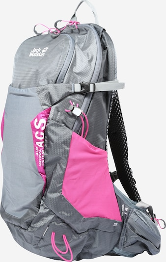JACK WOLFSKIN Sports backpack 'Crosstrail' in Grey / Pink, Item view