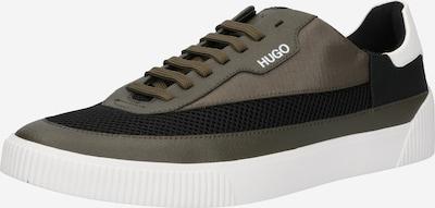 HUGO Sneaker 'Zero_Tenn_Loge' in dunkelgrün / schwarz / weiß, Produktansicht