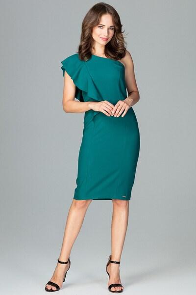 Lenitif Abendkleid in grün, Modelansicht
