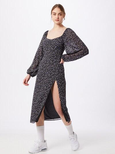 Missguided Kleid in beige / grau / lila / schwarz, Modelansicht