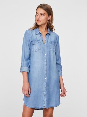 Rochie tip bluză 'VMSILLA' de la VERO MODA pe albastru