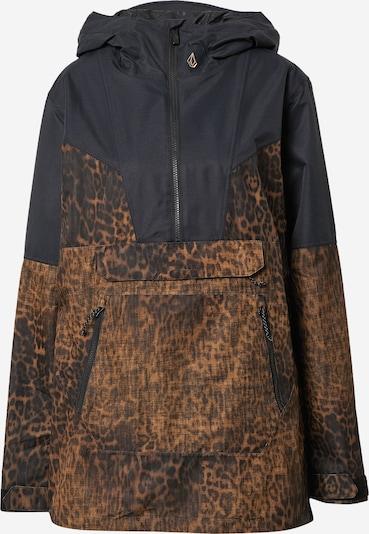 Volcom Outdoorjas 'MIRROR' in de kleur Karamel / Donkerbruin / Zwart, Productweergave