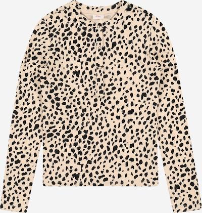 s.Oliver T-shirt i beige / mörkbrun / blandade färger: Sedd framifrån