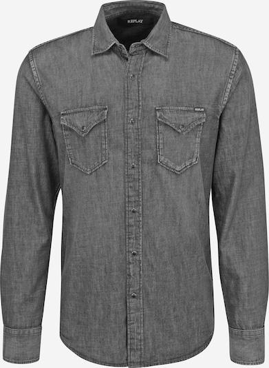 REPLAY Hemd in grau, Produktansicht