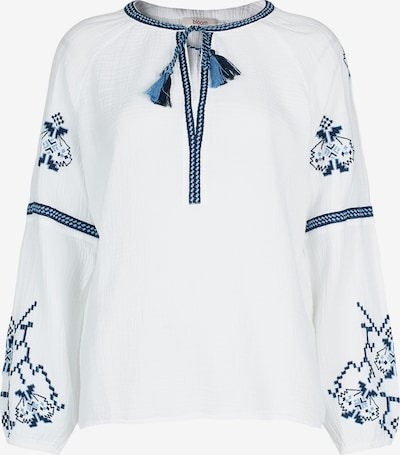 BLOOM Bluse mit Stickereien in blau / azur / hellblau / weiß, Produktansicht