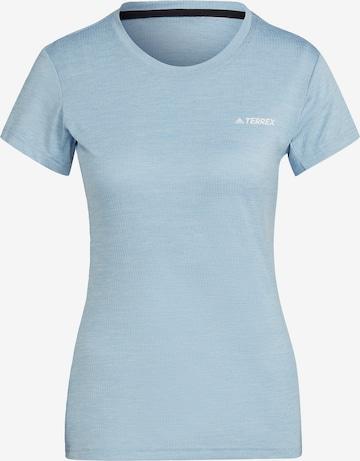 adidas Terrex Performance Shirt in Blue