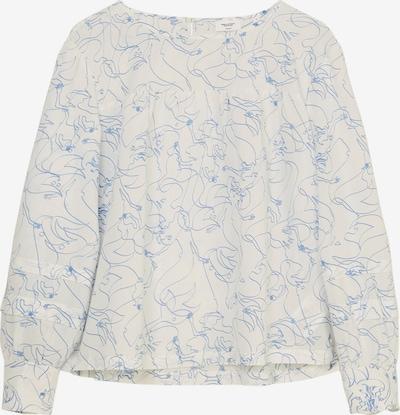 Marc O'Polo DENIM Bluse in kobaltblau / weiß, Produktansicht