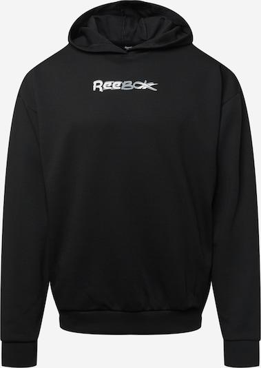 Reebok Sport Sportsweatshirt in schwarz / weiß, Produktansicht
