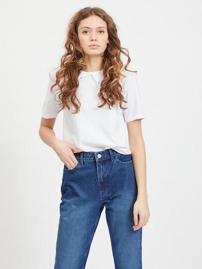 VILA T-Shirt in naturweiß: Frontalansicht