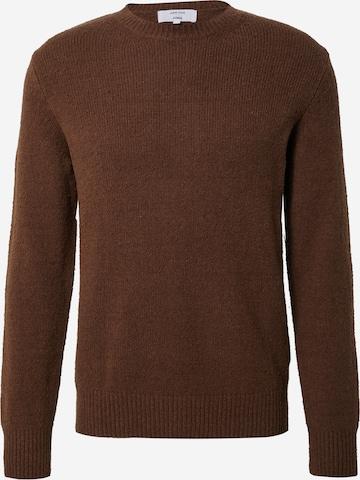 DAN FOX APPAREL Pullover 'Laurenz' in Braun