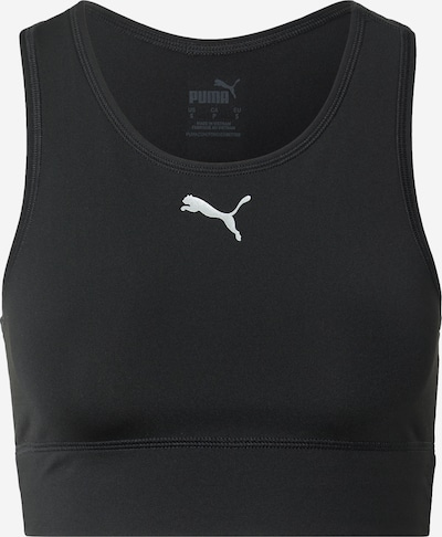 PUMA Soutien-gorge de sport en noir / blanc, Vue avec produit
