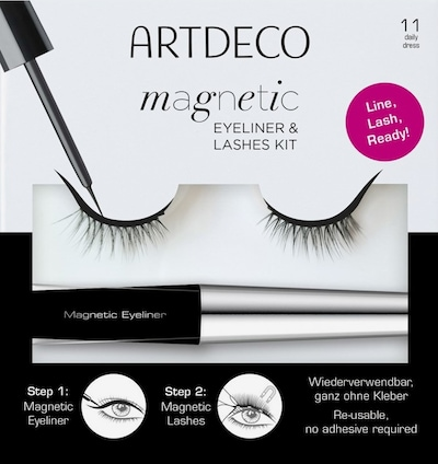 ARTDECO Set 'Magnetic Eyeliner & Lashes' in schwarz / silber, Produktansicht