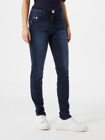 CECIL Jeans 'Toronto' in de kleur Donkerblauw, Modelweergave