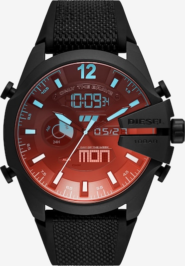 DIESEL Uhr in rot / schwarz, Produktansicht