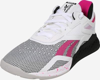 Sportiniai batai 'Nano X' iš REEBOK , spalva - pilka / rožinė / juoda / balta, Prekių apžvalga