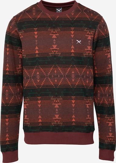 Iriedaily Sweat-shirt 'Santania' en vert foncé / rouge orangé / rouge foncé, Vue avec produit