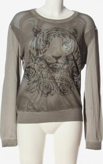 MARGITTES Sweatshirt & Zip-Up Hoodie in S in Brown / Light grey, Item view