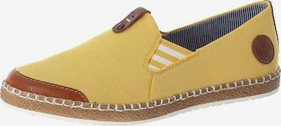 RIEKER Slip-ons in Brown / Yellow / White, Item view