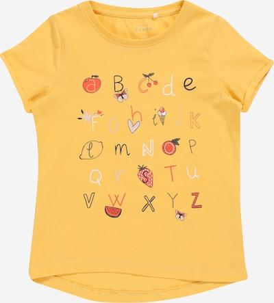 NAME IT Majica 'VIX' | rumena / siva / kaki / pastelno roza / svetlo rdeča / črna / bela barva: Frontalni pogled