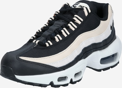 Nike Sportswear Sneakers laag 'Air Max 95' in de kleur Beige / Zwart / Wit, Productweergave