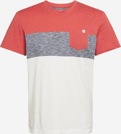 TOM TAILOR Majica | pegasto siva / melona / bela barva, Prikaz izdelka