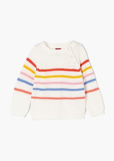 s.Oliver Trui in de kleur Lichtblauw / Mosterd / Rosa / Pitaja roze / Rood / Wit, Productweergave