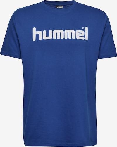 Hummel Trainingsshirt in blau / weiß: Frontalansicht