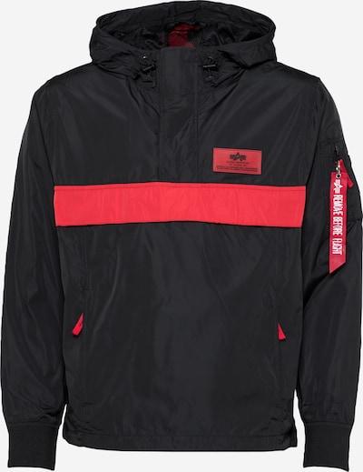 ALPHA INDUSTRIES Prehodna jakna 'Defense Anorak' | rdeča / črna barva, Prikaz izdelka