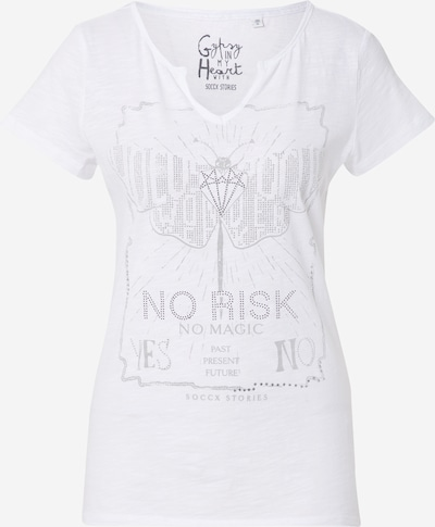 Soccx Majica u siva / srebro / bijela, Pregled proizvoda