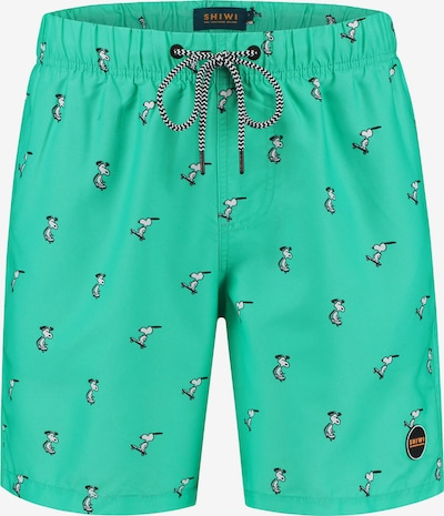 Shiwi Plavecké šortky 'Snoopy Happy Skater' - nefritová / čierna / biela, Produkt