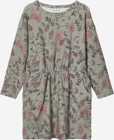 NAME IT Kleid 'TEALILI' in taupe / pink / grenadine / schwarz, Produktansicht