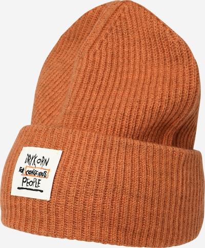 DRYKORN Muts 'LOAH' in de kleur Sinaasappel / Zwart / Wit, Productweergave