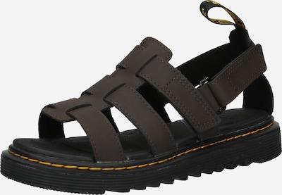 Dr. Martens Open schoenen 'Terry' in de kleur Donkerbruin / Goudgeel, Productweergave