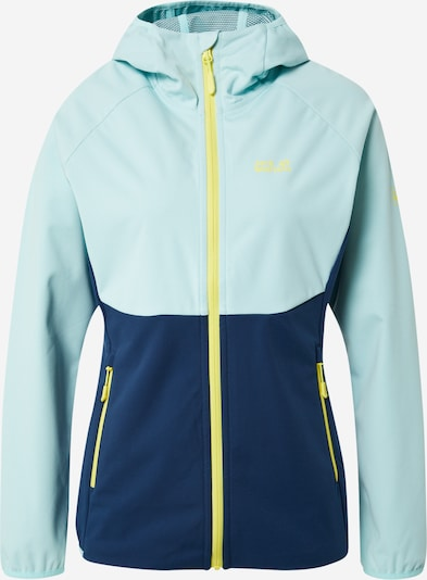 JACK WOLFSKIN Outdoor jacket 'Go Hike' in Navy / Light blue / Yellow, Item view