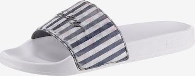 TOMMY HILFIGER Pantolette in navy / hellgrau / pastellrot / schwarz / offwhite, Produktansicht