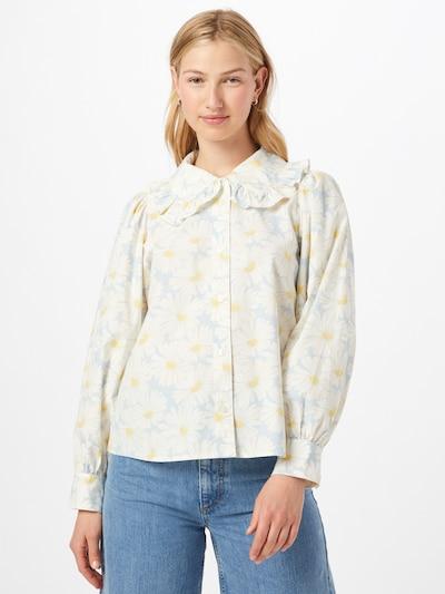 LEVI'S Bluse 'KARINA' in hellblau / safran / naturweiß, Modelansicht