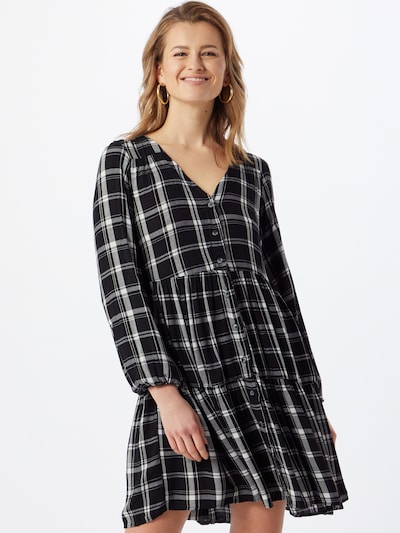 Hailys Kleid 'Mia' in schwarz / weiß, Modelansicht