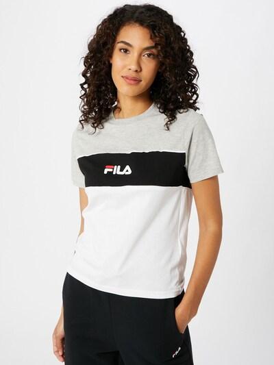 FILA Majica 'ANOKIA' | svetlo siva / črna / bela barva: Frontalni pogled